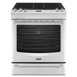 MaytagWhite Ice Maytag® 5.8 cu. ft. Front Control Gas Range with the FIT System