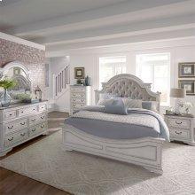 Queen Uph Bed, Dresser & Mirror, Chest, NS
