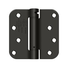 "4""x 4""x 5/8"" Spring Hinge, UL Listed - Oil-rubbed Bronze"
