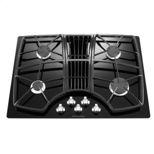 Wondrous Kitchenaid 30 Inch 4 Burner Downdraft Gas Cooktop Architect Series Ii Black Interior Design Ideas Tzicisoteloinfo