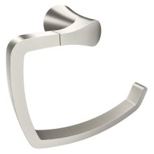 Danika brushed nickel towel ring