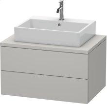 Delos Vanity Unit For Console, Concrete Gray Matt Decor