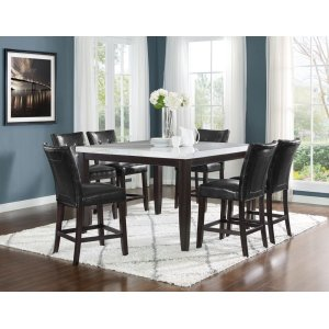 Steve Silver Co.Francis 7 Piece 54-inch Square Marble Top Set(Counter Table & 6 Counter Chairs)
