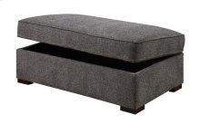 Storage Ottoman W/hidden Castors-gray
