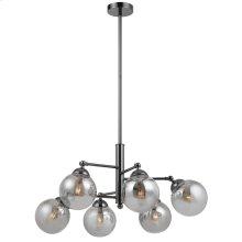 40W X 6 Prato Metal/Glass 6 Lights Chandelier