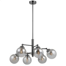 40W X 6 Prato Metal/Glass 6 Lights Chandelier