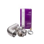 FrigidaireSmart Choice 8' Semi-Rigid Dryer Vent Kit, with 2 Elbows