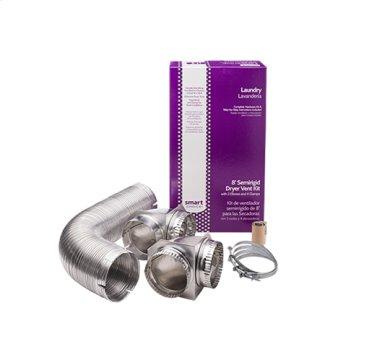 Smart Choice 8' Semi-Rigid Dryer Vent Kit, with 2 Elbows