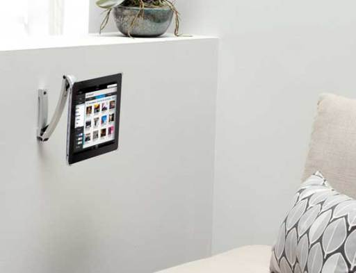 Silver IPad® Mount For Under Cabinet, On Wall Or Magnetic Surface Mounting