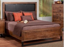 Cumberland Queen Bed With Fabric Headboard & Low Footboard