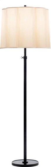 Visual Comfort BBL1023BZ-S Barbara Barry Simple 63 inch 150 watt Bronze Decorative Floor Lamp Portable Light in Silk Scalloped