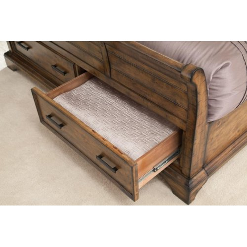 Elk Grove Rustic Vintage Bourbon Queen Bed