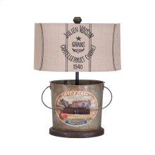 Tin Bucket Lamp