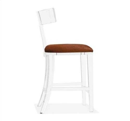 Tristan Klismos Counter Stool - Coffee Hide
