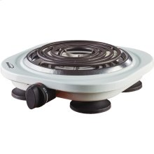 1,000-Watt Single Electric Burner (White)