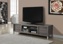 "TV STAND - 70""L / DARK TAUPE EURO STYLE"