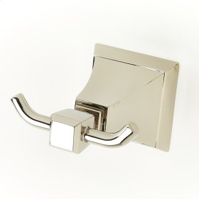 Double Robe Hook Leyden (series 14) Polished Nickel