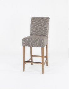 "Straight top barstool. 24"" barstools have a seat height of 26"" when measured."