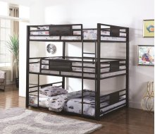Full Size Triple Decker Contemporary Bunkbed