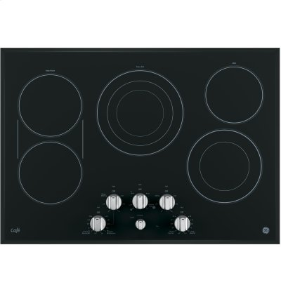 "GE Cafe™ Series 30"" Built-In Knob Control Electric Cooktop Product Image"