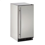 """u-lineOutdoor Series 15"""" Outdoor Refrigerator With Stainless Solid Finish and Field Reversible Door Swing"""