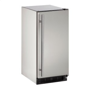 """U-Line Outdoor Series 15"""" Outdoor Refrigerator With Stainless Solid (Lock) Finish And Field Reversible Door Swing (115 Volts / 60 Hz)"""