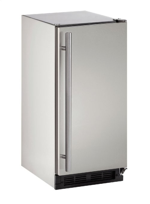 """Outdoor Series 15"""" Outdoor Refrigerator With Stainless Solid (lock) Finish and Field Reversible Door Swing (115 Volts / 60 Hz)"""