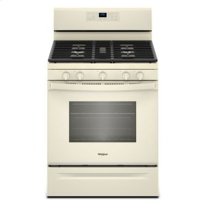WhirlpoolWhirlpool® 5.0 cu. ft. Freestanding Gas Range with Center Oval Burner - Biscuit-on-Biscuit