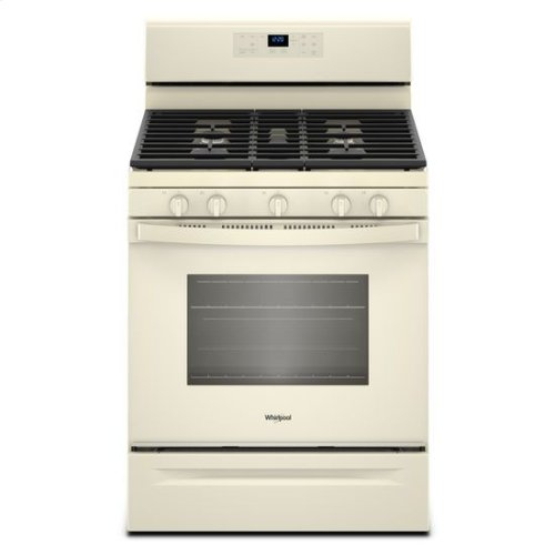 Whirlpool® 5.0 cu. ft. Freestanding Gas Range with Center Oval Burner - Biscuit-on-Biscuit