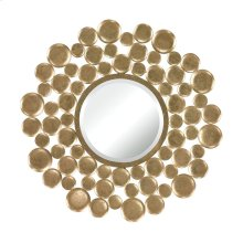 MIRROR SET IN GOLD LEAF BUBBLE FRAME