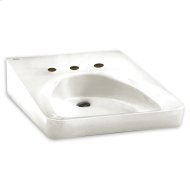 White Wheelchair Users Wall-Mount Sink