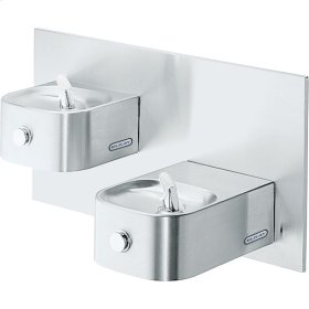 Elkay Soft Sides Bi-Level Reverse Fountain Non-Filtered, Non-Refrigerated Freeze Resistant Stainless