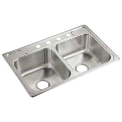 "Middleton™ Double-basin Kitchen Sink, 33"" x 22"" x 7"""