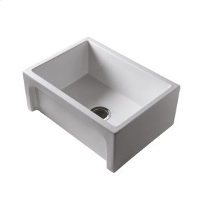 """Carmon 24"""" Single Bowl Fire Clay Farmer Sink - Bisque Product Image"""