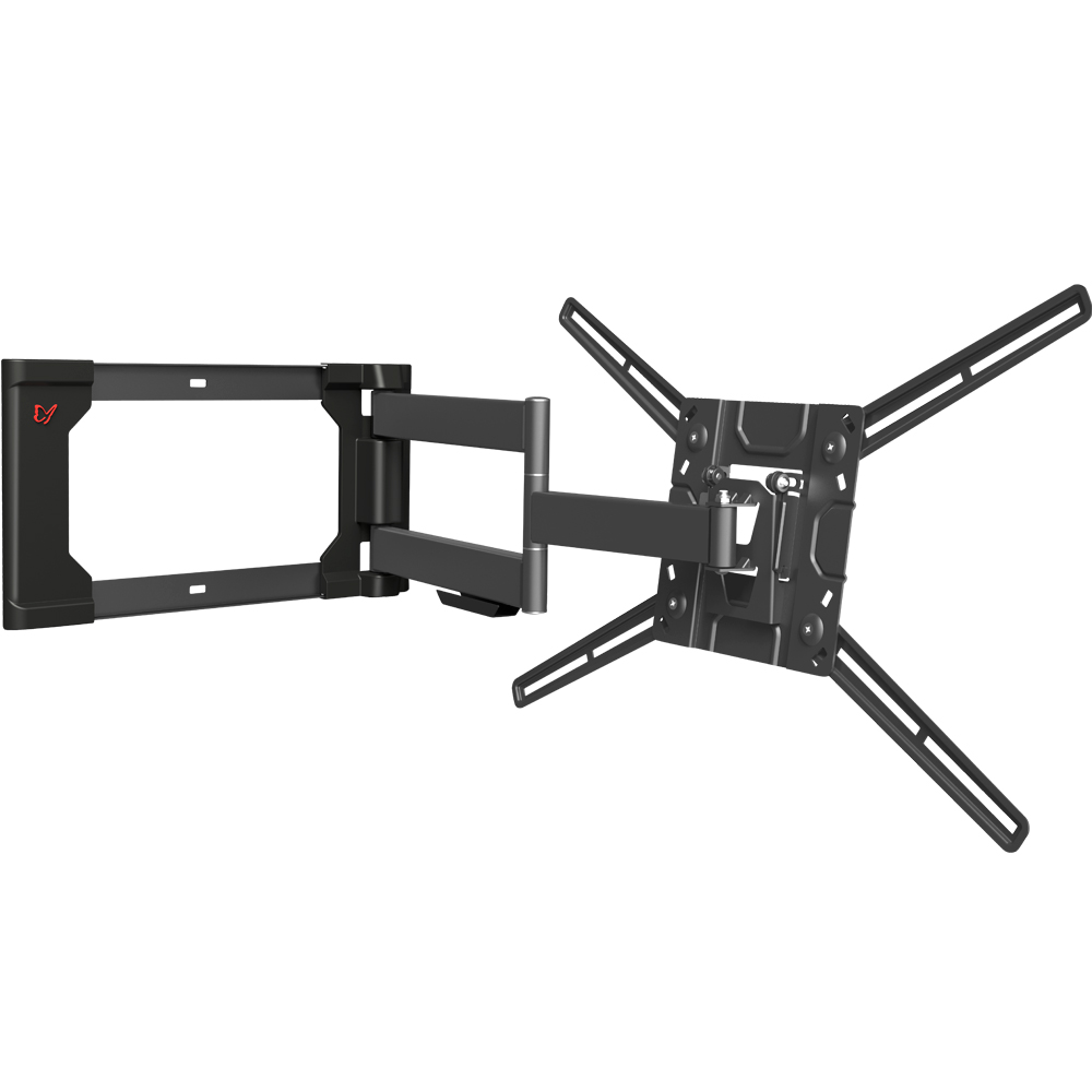 4 Movement - Flat / Curved TV Wall Mount, Full Motion - Rotate, Fold, Swivel & Tilt