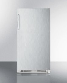Large Capacity All-refrigerator With Frost-free Operation, Fan-forced Cooling, Stainless Steel Door and Towel Bar Handles