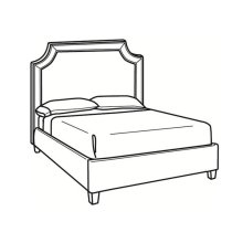 King Bed with Short Headboard