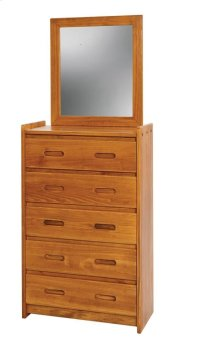 Sunset Trading Rustic Five Drawer Chest and Mirror Set