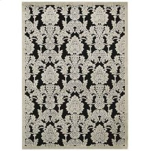 Graphic Illusions Gil03 Blk Rectangle Rug 5'3'' X 7'5''