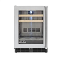 """24"""" Beverage Center, Clear Glass, Left Hinge/Right Handle"""