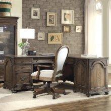 Belmeade - L Desk & Return - Old World Oak Finish