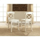 Regan - X-back Counter Stool - Farmhouse White Finish Product Image