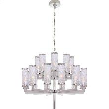 Visual Comfort KW5201PN-CRG Kelly Wearstler Liaison 20 Light 34 inch Polished Nickel Chandelier Ceiling Light, Kelly Wearstler, Double-Tier, Crackle Glass