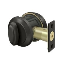 Solid Brass Port Royal Deadbolt Lock Grade 2 - Oil-rubbed Bronze
