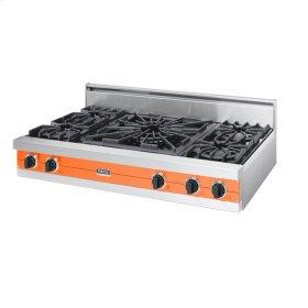 "Pumpkin 48"" Open Burner Rangetop - VGRT (48"" wide, four burners 24"" wide wok/cooker)"