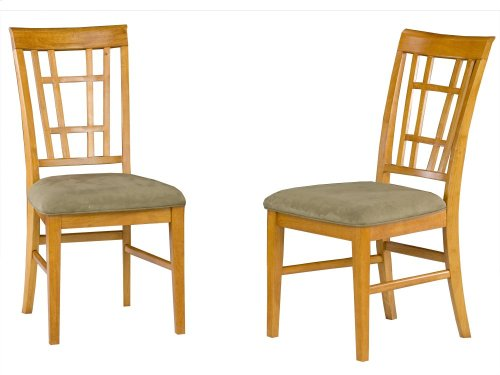 Montego Bay Dining Chairs Set of 2 with Cappuccino Cushion in Caramel Latte