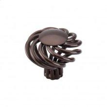 Round Large Twist Knob 1 1/2 Inch - Oil Rubbed Bronze