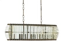 Zanzibar Rectangular Chandelier - 16h x 45w x 20d, adjustable from 16h to 67h