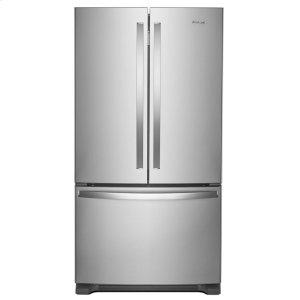 36-inch Wide French Door Refrigerator with Water Dispenser - 25 cu. ft. - FINGERPRINT RESISTANT STAINLESS STEEL