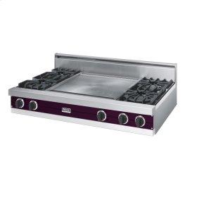 "Plum 48"" Open Burner Rangetop - VGRT (48"" wide, four burners 24"" wide griddle/simmer plate)"